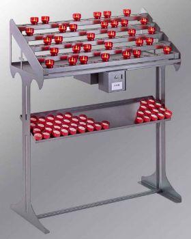 opferlichttisch mit 90 led kerzen rot. Black Bedroom Furniture Sets. Home Design Ideas