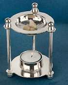 Table censer, nickel plated, 9 cm Ø, 12 cm high