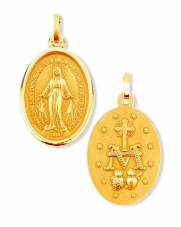 Wunderbare Medaille 16 mm Gold 333, Marienmedaille