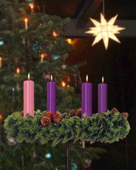 4 adventkerzen 250 x 60 mm 3 x kerze lila 1 x rosa. Black Bedroom Furniture Sets. Home Design Ideas