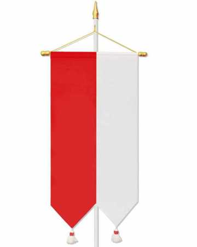 fahne baumwolle mit quasten rot wei kirchenbedarf. Black Bedroom Furniture Sets. Home Design Ideas