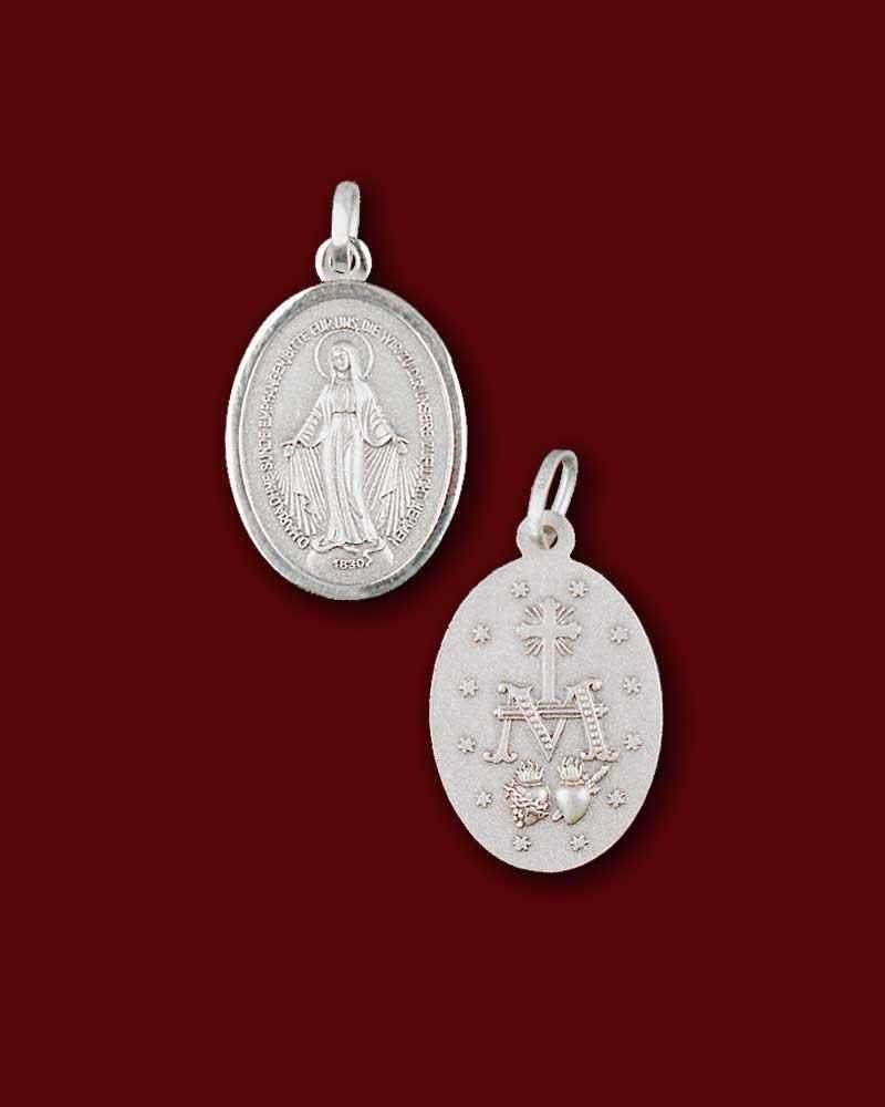 Wunderbare Medaille 12 mm Silber 925, Marienmedaille