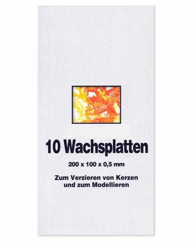 Wachsplatten 2 St/ück dunkelgr/ün 200 x 100 mm Verzierwachs zum Kerzen dekorieren